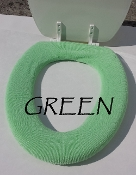 Bathroom Toilet Seat Warmer (Cover) Green
