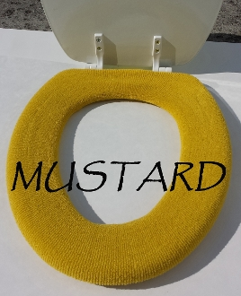 Bathroom Toilet Seat Warmer (Cover) Mustard