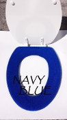 Bathroom Toilet Seat Warmer (Cover) Royal Blue