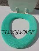 Bathroom Toilet Seat Warmer (Cover) Turquoise