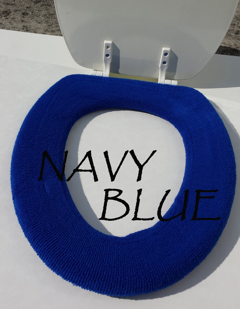 royal blue toilet seat.  Bathroom Toilet Seat Warmer Cover Black